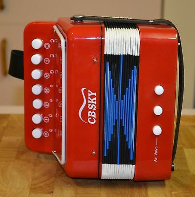 CBSKY Small Toy Children's Red Accordion Musical Instrument Music