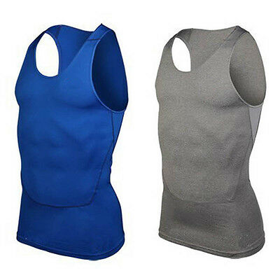 Men's Compression Body Tops Sports Gym Run Base Layer Shirt Vest Tank Running T