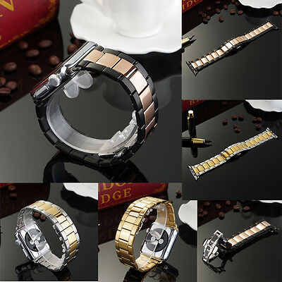Luxury Stainless Steel Wrist Strap Band Bracelet For Apple Watch iWatch Series 1