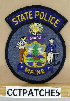 Maine State Police Shoulder Patch Me 3