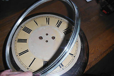 Very Large Antique German Black Forest Wag on Wall Postman's Face Dial c 1880