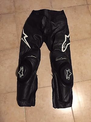 Alpinestars Track Leather Pants Black. Barely Used US size 32
