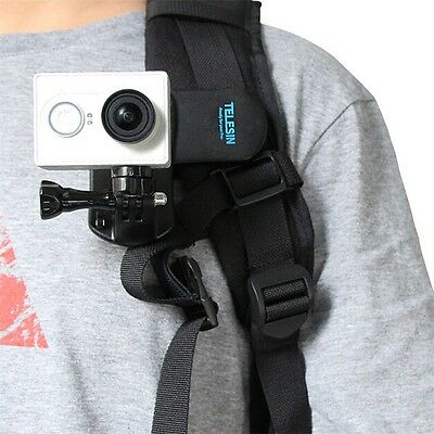 Backpack Clip Mount 360 Rotary Fast Clamp for GoPro Hero HD 1 2 3 3+ 4 BU