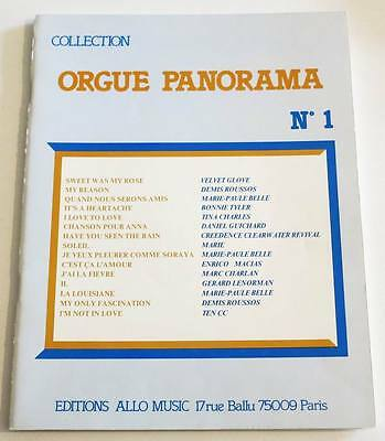 Song Book Partition Vintage Sheet Music ORGUE PANORAMA * 70's