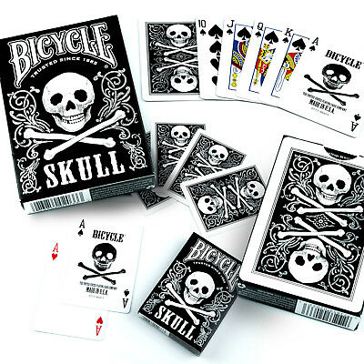 Bicycle Skulls Playing Cards Single Deck Stunning Design Poker Magic NEW