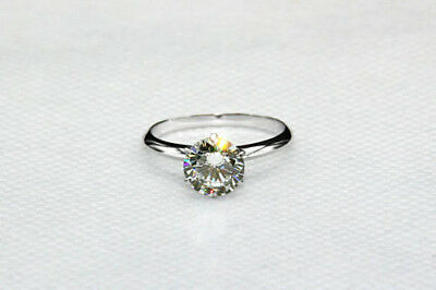 1CT Forever Brilliant Moissanite Solitaire 925 Sterling Silver Engagement Ring