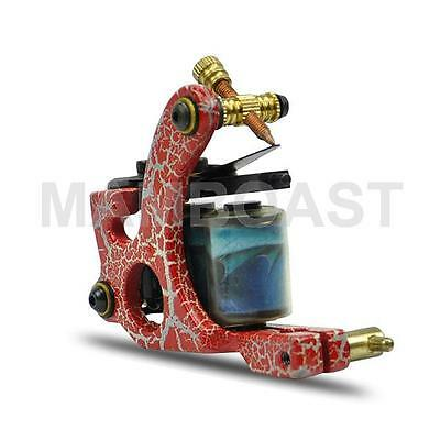 Professional Tattoo Machine for Line Cutting - Red and Grey Iron Frame
