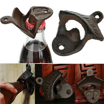 12 Pack Vintage Rustic Cast Iron Wall Mounted Bar Beer Bottle Opener Open Tool