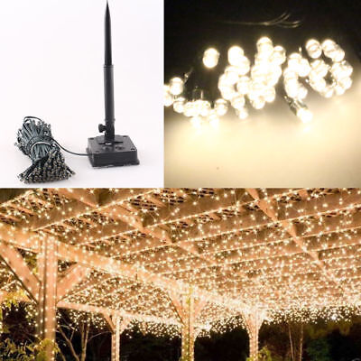 Warm White 400 LED Solar Power String Fairy Lights Outdoor Party Xmas Waterproof