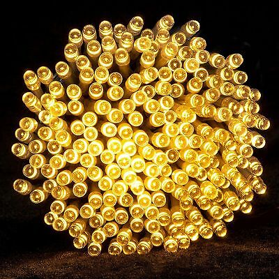 Warm White 100 LED Solar String Fairy Lights Outdoor Party Xmas Tree Waterproof
