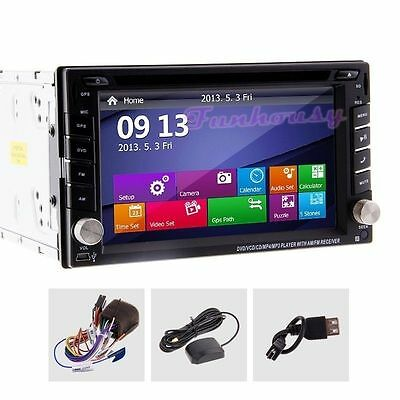 "AUTORADIO UNIVERSALE 6.2""Touch - 2 din Navigatore /MP3/BLUETOOTH/GPS/DVD EU Ship"