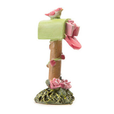FAIRY GARDEN Miniature ~ Mailbox – Pink and Green ~ Mini Dollhouse