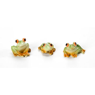 My Fairy Gardens Mini - Mini Frogs - Set of 3 - Supplies Accessories