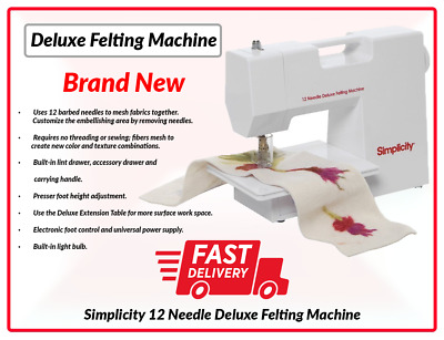 Felting Machine Simplicity Deluxe Felting Machine RRP £199.99 Fast Deliver UK