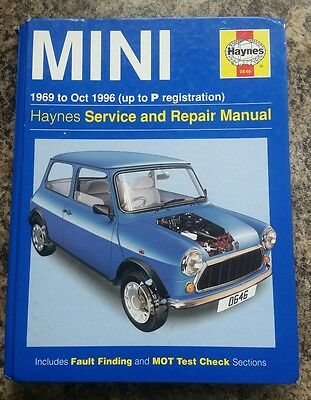 Mini Haynes Workshop Manual 69-96 no.0646