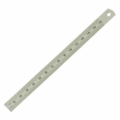 """Moore and Wright 150mm 6""""Dual Sided Flexible Ruler Steel Engineers Rule ER206F"""
