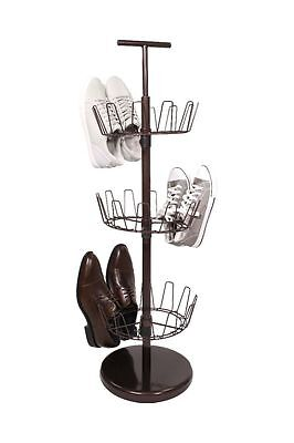Tidy Living - 3 Tier Shoe Tree Bronze - 18 Pair Heavy Duty Storage Organizer