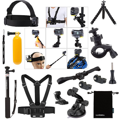 Luxebell Accessori Kit per Sony Action Camera HDR-AS15 AS20 AS30VE AS50 AS100V