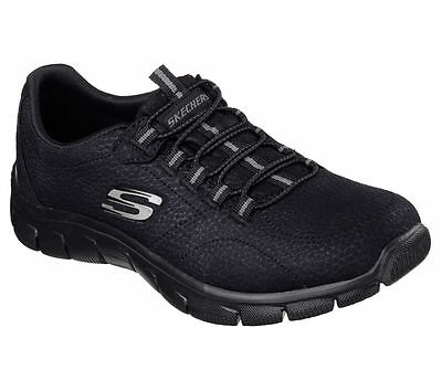 Skechers Empire-Take Charge Womens Black Sports Fitness Relaxed Fit Trainers