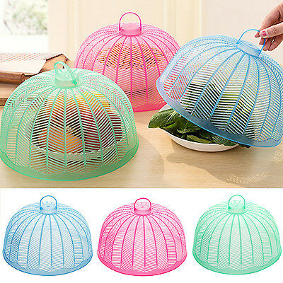 WO Cute Collapsible Food Cover Protector Pop Up Mesh Fly Wasp Net Party Kitchen