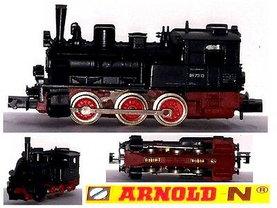 Arnold Vintage Locomotiva Vapore Steam-Locomotive 0-6-0 Br89-7313 Db Scala-N