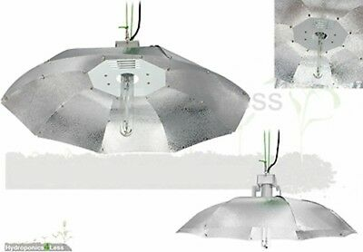 Tent Grow Light Parabolic Shade Reflector Shade 80cm 100cm Hydroponics Silver