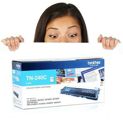 TN-240C Genuine Brother Cyan Toner Cartridge Fast & Free Shipping & Low Price