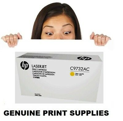 Genuine HP 645A Yellow Toner Cartridge C9732AC (C9732A) For 5500 & 5550 Series