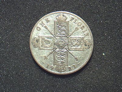 George V (1910- 1936) 1923 Florin ,.500 silver. circulated condition.