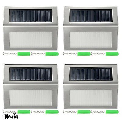 Luz Solar LED VicTsing Pack de 4 Inalambrico Impermeable Light Stainless Steel