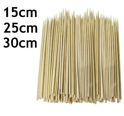 500 Value Pack Bamboo Skewers Wooden For Bbq Food Party Chocolate Fountains