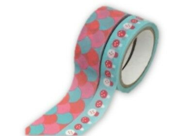 Grace Taylor Forest Friends Decorative Washi Tape Roll 5 m - Pack of 2