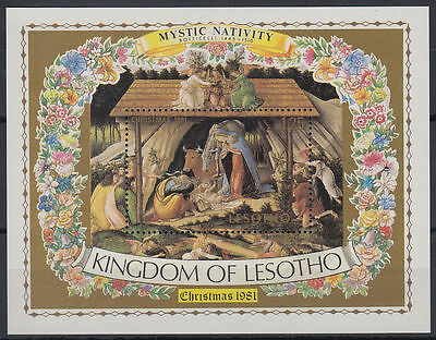 Lesotho 1981 ** Bl.10 Weihnachten Christmas Gemälde painting Botticelli [st2702]
