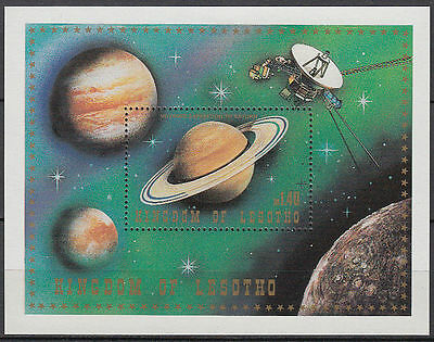 Lesotho 1981 ** Bl.8 Weltraum space Planet Satellit  [st2708]