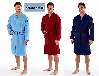Mens PLAIN LIGHTWEIGHT SUMMER DRESSING GOWN,KIMONO SIZES M,L,XL,XXL