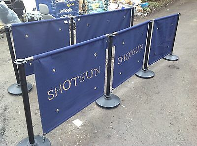 5 Piece Blue Crowd Control Barriers