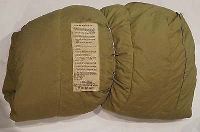 Post WW2 US Army Feather Filled Mountain Sleeping Bag M-1949 Size Regular