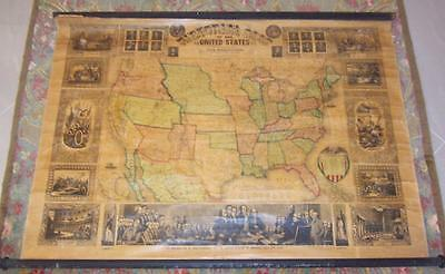 XRARE: 1855 pull down map of the United States Ensign, Bridgman & Fanning