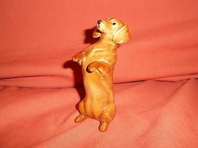 Rare Beswick dog Dachsund Begging Tan 1461 excellent condition