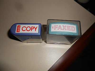 2 x Stamp Copy & Faxed