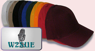 Ham  Radio Cap  Hat  Custom  Embroidered  with  CALL + MIC + NAME IF DESIRED