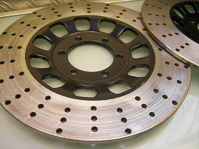 2x ORIGINAL BREMSSCHEIBE GELOCHT XS 650 XS 750 RD 350 267x7MM BRAKE DISC DRILLED