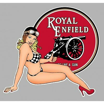 ROYAL ENFIELD B right Sticker pin up droite