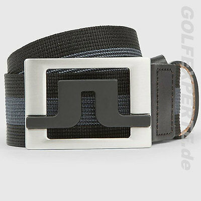 J.lindeberg Golf Herren Gürtel Slater 40 Striped Webbing Belt Black