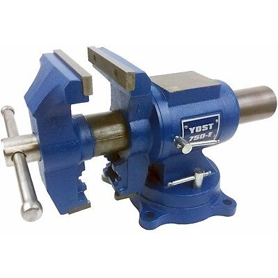 "Yost Vises 750-E, 5"" Medium Duty Rotating Vice, Workshop, Engineering, Pipe Vice"