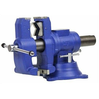 Yost Vises 750-DI, Multi-Jaw Rotating Combination Pipe & Bench Vise, Swivel Base