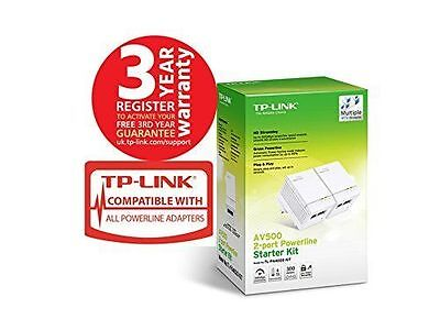 TP Link 600 Mbps Wireless Internet Adapter Ethernet Networking Power line Kit
