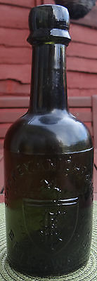 """EMBOSSED:PICTORIAL """"KNIGHT ON HORSE BACK """" TRADE MARK BOTTLE Circ:1890.STUNNING"""
