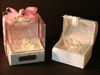 christening or new baby girl personalised gift guardian angels in poem box #10