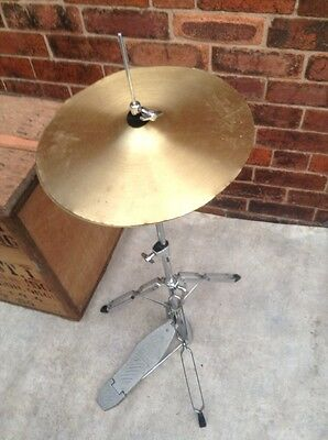 "Free P&P. CB Hi Hat Stand for Drum Kit. Clutch & 14"" Hi Hats Included"